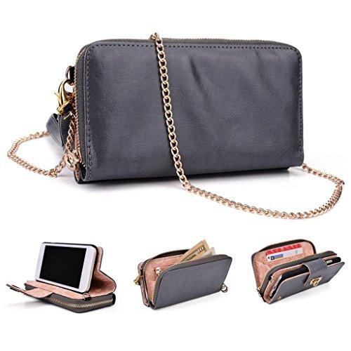 Kroo Worldwide Damen Brieftasche Wristlet Schultertasche kompatibel mit Fount-overview Phone Lessen on
