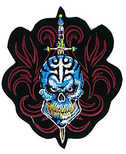 Totenkopf Schwert Patch Eisen auf Logo Weste Jacke Gap Hoodie Rucksack Patch -