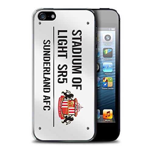 Offiziell Sunderland AFC Hülle / Case für Apple iPhone SE / Pack 6pcs Muster / SAFC Stadium of Light Zeichen Kollektion Weiß/Schwarz