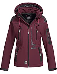 42ebe9412a1fb1 Geographical Norway Damen Softshell Outdoor Jacke Tassion abnehmbare Kapuze