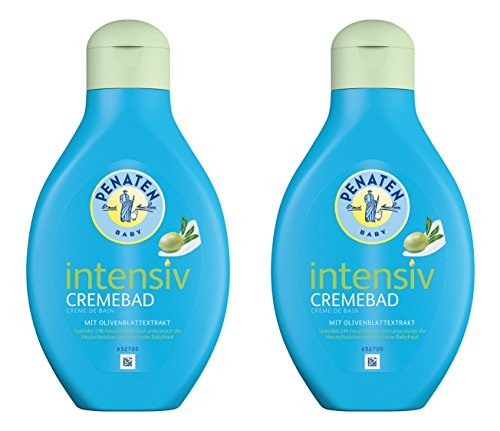 Penaten Intensiv Cremebad 400ml - 24h Pflege für Babys - Feuchtigkeitsspendender Badezusatz für trockene Haut - Keine Tränen mehr (2 x 400ml)