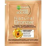 Garnier Ambre Solaire Natural Bronzer Protezione Solare Salvietta Autoabbronzante Viso e Decolleté, 6 ml