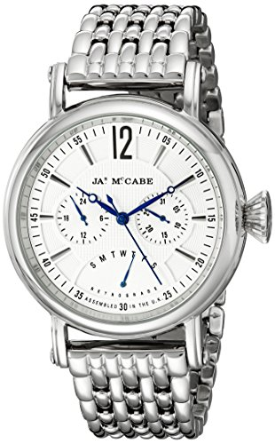 James McCabe Men's JM-1017-22 Lurgan Analog Display Japanese Quartz Silver Watch