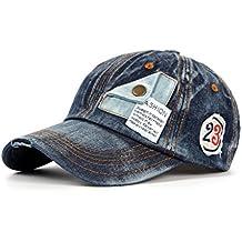 Xiang Unisex Denim Gorra de Béisbol Primavera Caída Caliente boinas Hat con patrón de número