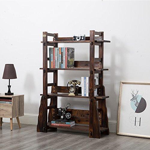 Bücher regale, Holz bücherregal Bibliothek buch rack Magazin bücherregal Buch-organisator Broschüre regale Moderne Kreativ Einfache Für haushalt und büro-braun 96x36x130cm(38x14x51inch)