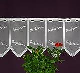 Gustav Gerster Scheibengardine Nach Maß, Lamellen Panneau, Bistrogardine Cafehausgardine, Stangendurchzug, Höhe 30 cm - Breite der Gardine durch Stückzahl in 15 cm Schritten Wählbar