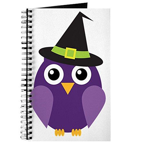 CafePress-Halloween Eule 3-Spiralbindung Notizbuch, persönliches Tagebuch, Dot Grid