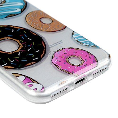 Lanveni Handyhülle für iPhone 7 Hülle×3, Handytasche Etui Protective Case Cover TPU Silikon Schutzhülle TPU-Bumper Weiche Silikon Case mit Bunte Cover Design (Pferd) Rote Lippen