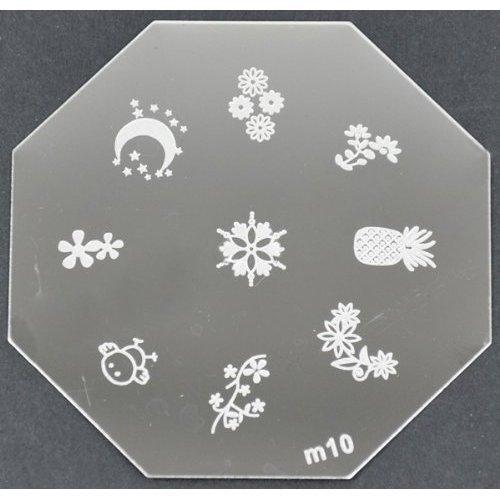 Nail Art emboutissage des tôles - M01 CODE : M10-plaque