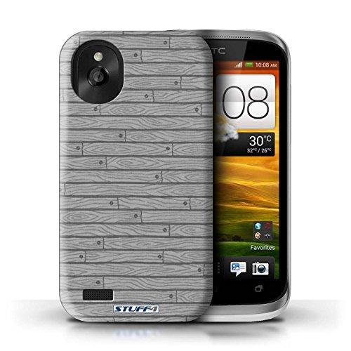 Kobalt® Imprimé Etui / Coque pour HTC Desire X / Vert conception / Série Motif Bois Gris