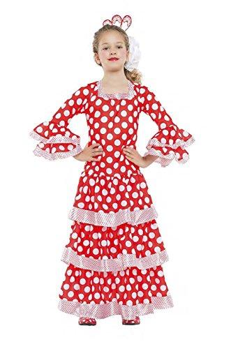 Imagen de disfraz sevillana talla 7 9 años tamaño infantil