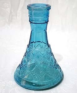 """Vase """"Grande Pyramide Bleu Ciel"""" pour Chicha NARGUILE - Shisha Pipe à Eau Fumeur Hookah"""