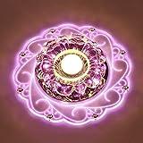 LED Kristall Deckenleuchte Farbwechsel Crystal Decken Pendent Lampen Einbauleuchten Kronleuchter Für Flur Schlafzimmer Arbeitszimmer / Büro Esszimmer Kinderzimmer Korridore Foyer Wohnzimmer Balkon,Pink-Srew