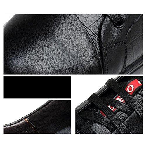 Hommes Casual Chaussures de sport pour hommes authentiques Sneakers Baskets Adultes en cuir unisexe ( Color : White mesh-47 ) Black-40