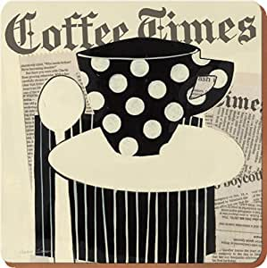 Creative Tops Coffee Times Opulence Square Cork-Backed Placemats, Set of 4
