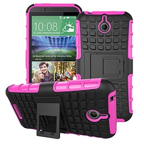 HTC Desire 510 Hülle, SsHhUu Premium Rugged Stoßdämpfung & Staubabweisend Kompletter Schutz Hybrid-Koffer mit Ständer Telefon Kasten für HTC Desire 510 4.7 Zoll (Rosa) 510 Htc Telefon-kästen
