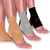 1 Paar Fußgelenk-Bandagen Fussbandagen zur Schmerzlinderung Kompressionssocken Sportbandage Beige