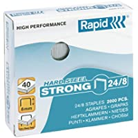 Rapid 24858900 Staples 24/8 mm Strong Rust-Proof Pack of 2000