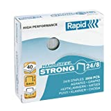 Rapid 24858900 - Caja de 2000 grapas (acero inoxidable, 24/8 mm)
