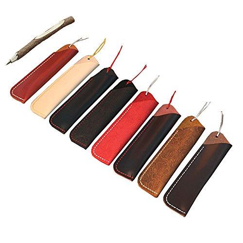 Gossipboy vintage design fatto a mano in pelle doppio supporto della penna stilografica borsa morbida matita manicotto protettivo copertura Black Carving - Casi Fountain Pen