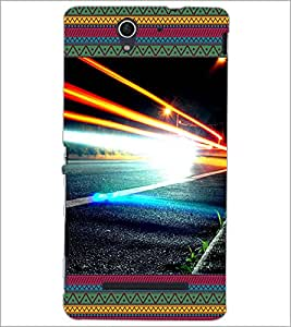 PrintDhaba Lightening D-4642 Back Case Cover for SONY XPERIA C3 (Multi-Coloured)