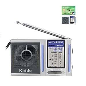 ELEGIANT kaide Poste Radio de Poche Portable 2 Bande 91 x 56 x 21mm