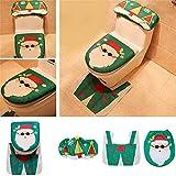 XWWS Natale WC Cover (3 Pezzi Set) A Babbo Natale del Pupazzo di Neve Decorazioni di Natale A Bagno Family Market,Santaclaus