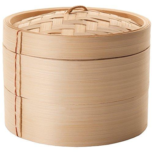Ibili 727510 Dampfgarer-Set, Bambus, braun, 10 x 10 x 15 cm, 3 Einheiten