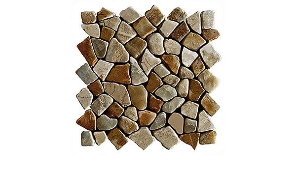 M-005 Marmor Onyx Mosaikfliesen Naturstein Bad-Fliesen Lager Verkauf Stein-mosaik Herne NRW