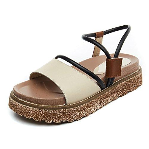 Lady,Summer,Une Bande De Sandales Plat,Muffins,Chaussures Tout Usage B