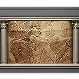 murando - Fototapete 350x256 cm - Vlies Tapete - Moderne Wanddeko - Design Tapete - Wandtapete - Wand Dekoration - Ägypten Pharao Antike Textur Mauer d-C-0021-a-c