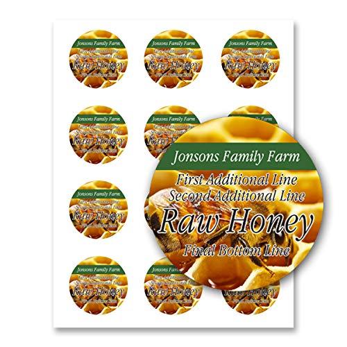 Raw Honig-/Bauernhofküche, personalisierbar, rund 20 Sheets / 240 Labels Honey #10