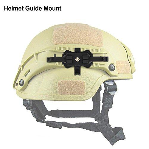 Tbest Táctica rápido Mich Casco Accesorios Cámara Soporte Montaje, cámaras con Adaptador FMA Contour HD Camera Adaptador de Montaje en Carril con liberación rápida para MICHO Fast Helmet