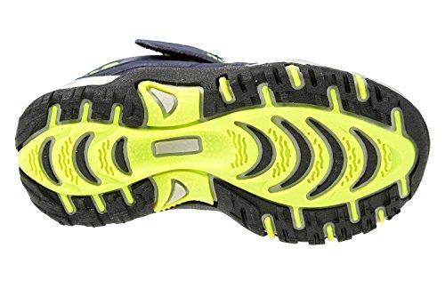GIBRA® Kinder Sportschuhe, mit Klettverschluss, dunkelblau/neongrün, Gr. 25-36 dunkelblau/neongrün