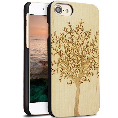 iPhone 7 Coque, YFWOOD Housse de Protection en Bois Naturel pour iPhone 7 M-banian