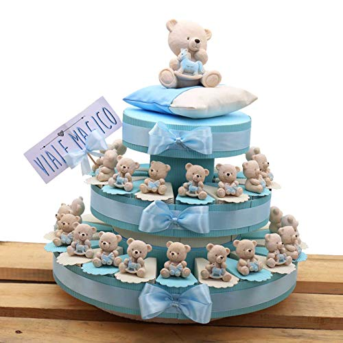 Torte bomboniere statuina prima comunione nascita confettata alzatina portachiavi orsetti tenerorsi 35 pezzi (180161)