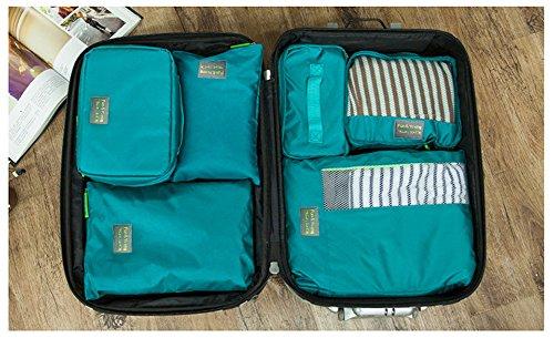 grand choix de b315e 92f53 Joyoldelf Ensemble de 7 Organisateurs de Voyage Organisateur Valise Sacs de  Rangement Cube, Organisateur de Bagage de Sac Voyage pour des Vêtements