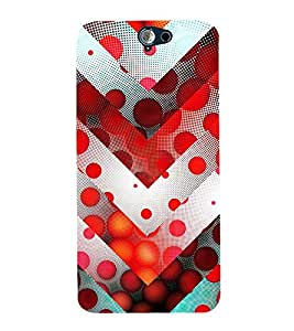 99Sublimation Animated Pattern of Chevron Arrows 3D Hard Polycarbonate Back Case Cover for HTC One A9