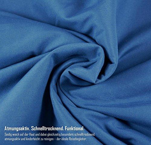 51AZOEDvmlL - BeMaxx Sleeping Bag Liner + Pillow Inlet Outdoor – Compact, Lightweight Inlay | Summer Microfibre Bedroll | Space–saving…