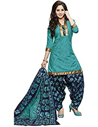 baalar Women's Dress Material(40777_Blue_Free Size)