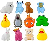 #10: Soft Bath Baby Toys Chu Chu Toys - Set Of 12 Multi-Color