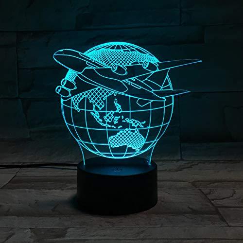 Flugzeug Usb Led Tisch Lamps7 Farbwechsel 3d Lampe Luminaria De Mesa 3d Leuchten Usb Weihnachtsgeschenk Nachtlicht
