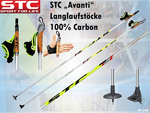 STC 100% Carbon Skating Langlauf Stöcke Avanti, Langlaufstock (175 cm)