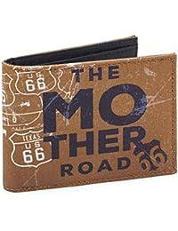 6d69f3b9ce ROUTE 66 - Portafoglio con portamonete, porta banconote e porta carte per  giovani in tela