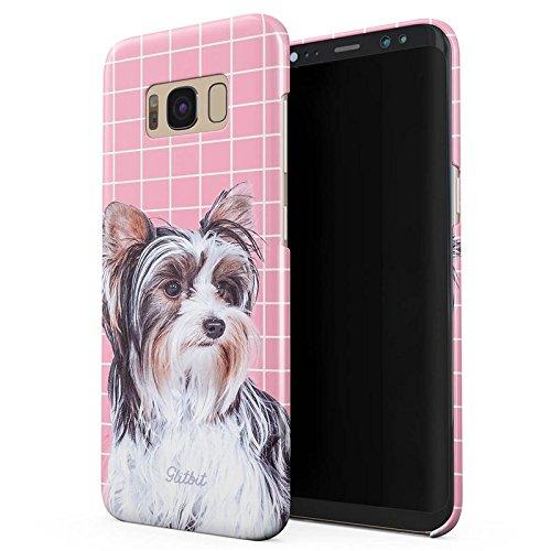 Glitbit Cute Yorkshire Terrier Hund Welpe Dog Puppy Yorkie Dünn Robuste Rückschale aus Kunststoff Für Samsung Galaxy S8 Plus Schutzhülle Schutz Hülle Case Cover (Bull Terrier Phone Case)