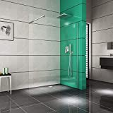 Duschkabine - Duschwand | Duschabtrennung aus ESG Sicherheitsglas 10mm · begehbare Dusche · Breite: 140 cm - Höhe: 200 cm | Burgtal 17954