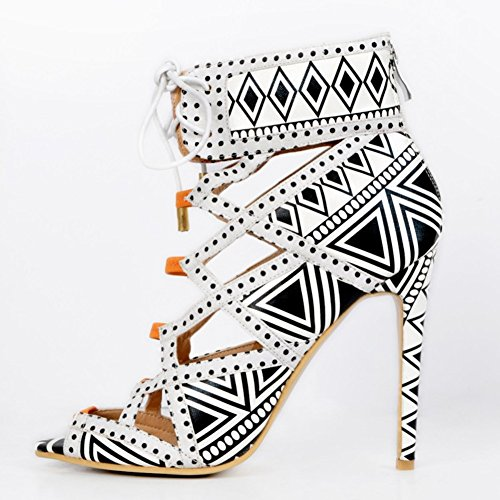 Kolnoo Damen Faschion Peep-toe Crosscriss Handgefertigte High Heel Prom Party Pumpen Schuhe Mixed