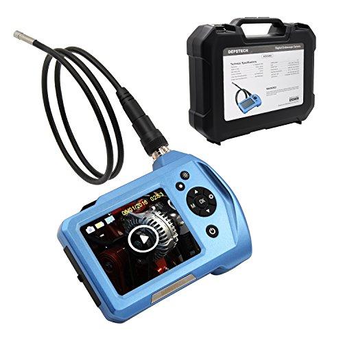Preisvergleich Produktbild Depstech 2.5Inches LCD-Schirm-Anzeigen-Digital-Endoskop Einstellbare 6 LEDs Borescope Inspektionskamera mit 5,5mm Durchmesser 360 ° Rotation Kamera (3M)