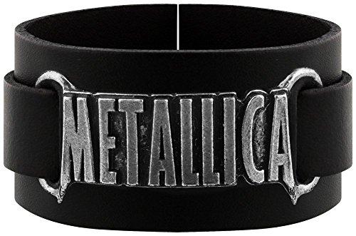 Alchemy Rocks Metallica Logo Armband (Schwarz) (Metallica-armband)