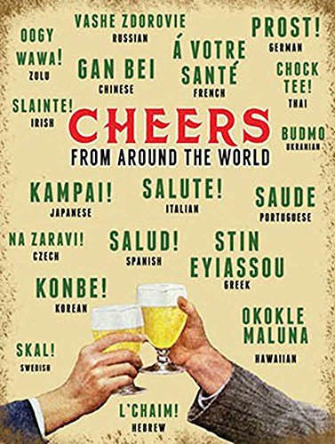 beer-cheers-around-the-world-vintage-affiche-metallique-avec-taille-15-x-20-cm